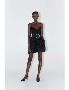 Vestido Mini Com Cinto by Zara