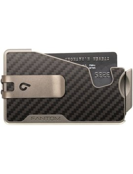 Fantom R   10cc Slimwallet + Money Clip   Unisex   Carbon Fiber by Fantom Wallet