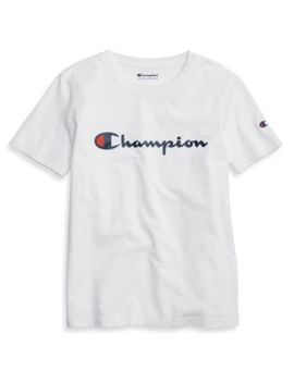 Champion Life® Youth Heritage Tee, Script Logo by Champion