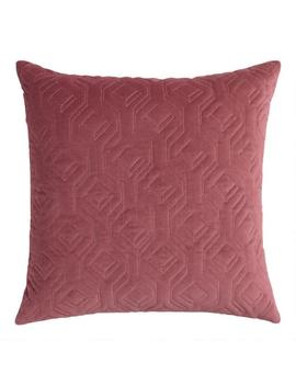 Dusty Rose Quilted Velvet Throw Pillow by World Market