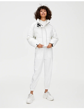 White Reflective Trousers by Pull & Bear