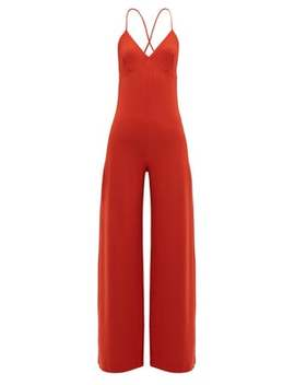 Low Back Jersey Jumpsuit by Norma Kamali