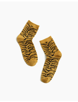 Shimmer Tiger Stripe Ankle Socks by Madewell