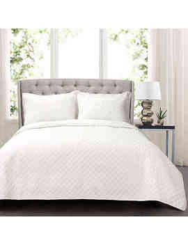Lush Decor Ava Oversized King Quilt Set In White by Bed Bath And Beyond