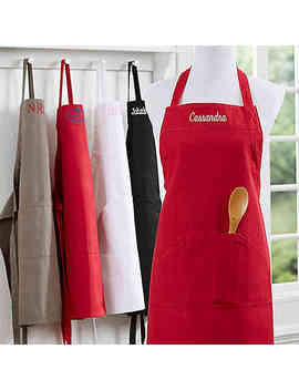 Embroidered Name Kitchen Apron by Bed Bath And Beyond