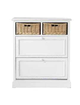 Shoe Cabinet In White W 80cm    Cottage by Maisons Du Monde