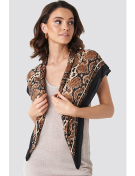 Anguis Neck Scarf Brown by Mango