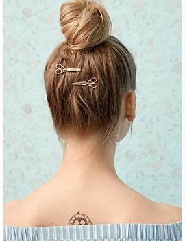 Golden Scissor Hair Clip 2 Pack by Simons