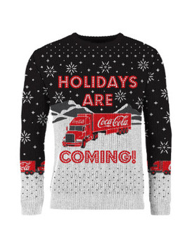 Coca Cola Holidays Are Coming Jumper by Coca Cola