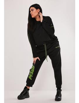 Msgd Ski Plus Size Black Co Ord Jogger by Missguided