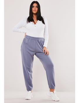 Plus Size Blue Basic Joggers by Missguided