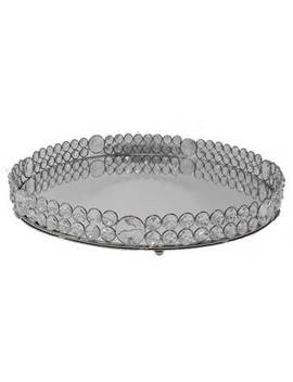 Isabela Round Crystal Border Decorative Plate by House Of Hampton