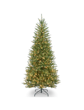 6.5 Ft. Pre Lit Dunhill® Fir Slim Artificial Christmas Tree, Clear Lights by Null