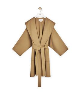 Hooded Coat       Camel by Loewe