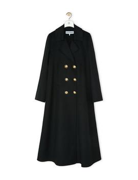 Double Breasted Coat       Black by Loewe