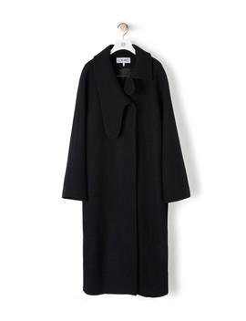 Long Asym Collar Coat       Black by Loewe