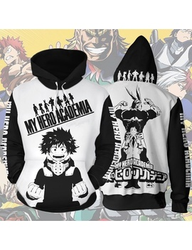Newest My Hero Academia Season Five Men's Hoodie Izuku Midoriya 3 D Printed Cartoon Sweatshirt Autumn Hooded Cosplay Streetwear Pullover Tracksuit by Wish