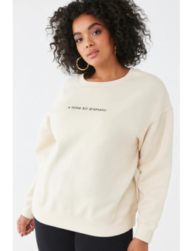 Plus Size Dramatic Graphic Sweatshirt by Forever 21