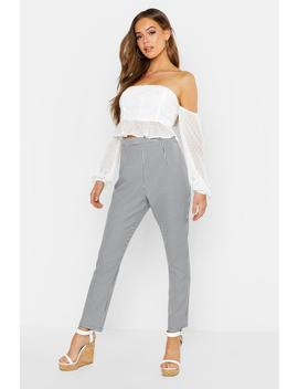 Gingham Check Tapered Trouser by Boohoo