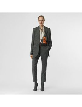 Wool Cashmere Tweed Tailored Jacket by Burberry
