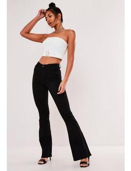 Black Lawless Flare Jeans by Missguided
