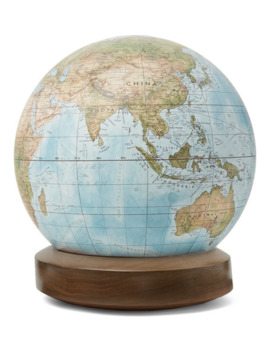 Albion Resin And Walnut Mini Desk Globe by Bellerby &Amp; Co Globemakers
