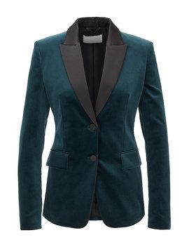 Tuxedo Inspired Regular Fit Jacket In Italian Velvet Tuxedo Inspired Regular Fit Jacket In Italian Velvet by Boss