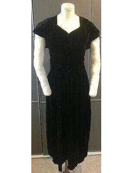 Original 1940s Black Velvet Dress by Ebay Seller
