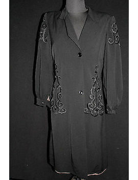 Exceptional French Vintage 1930's 1940's Designer Quality Coat Size Medium by Ebay Seller