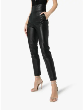 Fitted Leather Trousers by Alexandre Vauthier