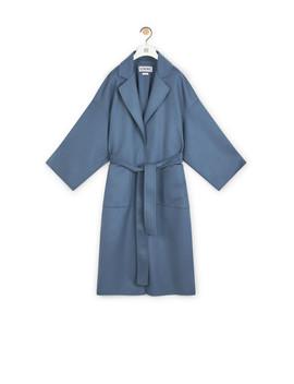 Oversize Belted Coat       Varsity Blue by Loewe