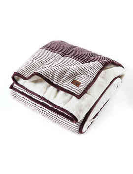Ugg® Serene Reversible Striped 12 Lb. Weighted Throw Blanket In Port by Bed Bath And Beyond