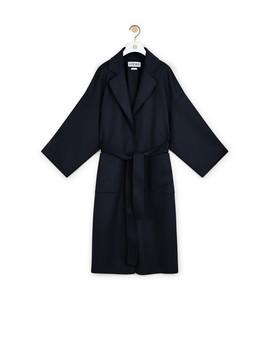 Oversize Belted Coat       Navy Blue by Loewe