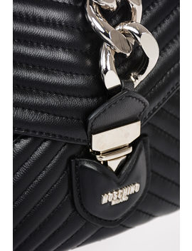 Quilted Leather Wristlet Bag by Moschino