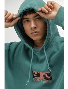 """Urban Outfitters– Hoodie """"Don't Choke"""" In Blaugrün by Urban Outfitters Shoppen"""