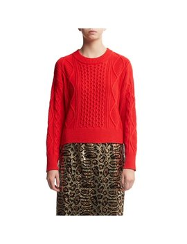 Scoop Women's Cropped Cable Knit Sweater by Scoop