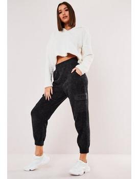 Petite Grey Washed Pocket Joggers by Missguided