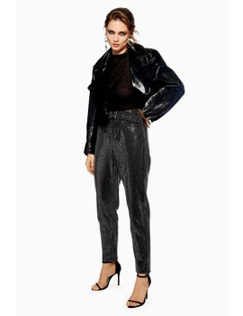 Black Diamante Straight Jeans by Topshop
