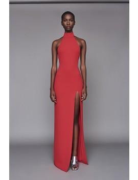 Zadid Dress Dark Red by Solace London