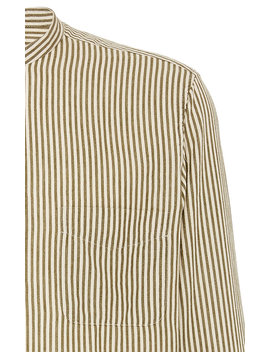 Striped Cotton Poplin Shirt by Massimo Alba