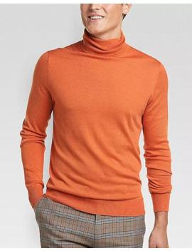 Paisley & Gray Slim Fit Turtleneck Sweater, Orange by Paisley & Gray
