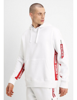 Inlay Tape Hoodyexclusiv   Jersey Con Capucha by Alpha Industries