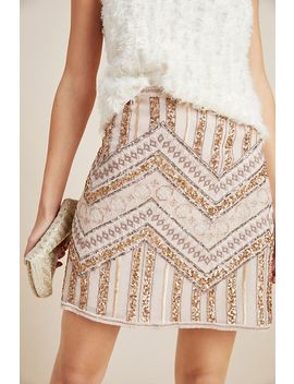 Darla Embroidered Mini Skirt by Anthropologie