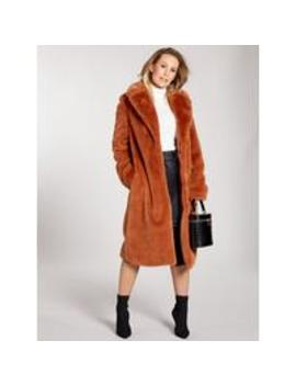 Premium Longline Faux Fur Coat   Spice by Kate Wright