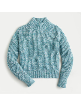 Marled Donegal Mockneck Sweater by J.Crew