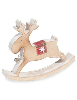 Rocking Reindeer Figurine H14 by Maisons Du Monde