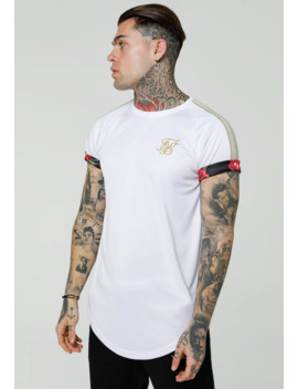 Majestic Roll Sleeve Tee   T Shirts Med Print by Siksilk