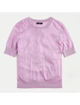 Short Sleeve Silk Tencel™ Crewneck Sweater by J.Crew