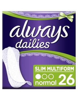 Always Dailies Slim Multiform Panty Liners X 26 by Always