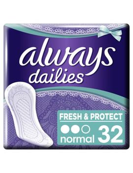 Always Dailies Fresh & Protect Panty Liners Normal X32 by Always